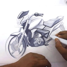 MOTORCYCLE SKETCHING